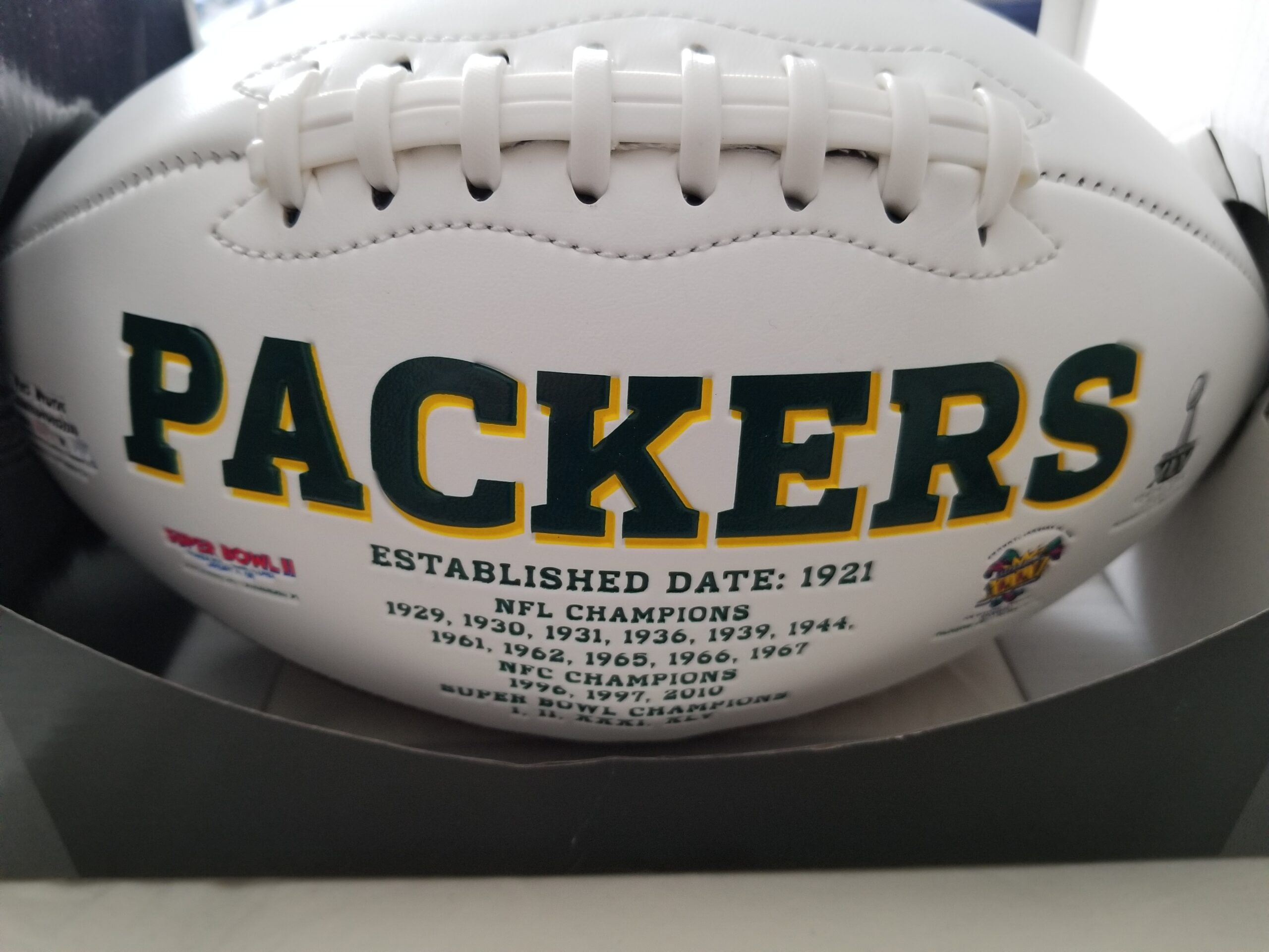 Register today for a chance to win one of four great prizes including a Green Bay Packers Football, Milwaukee Brewers Youth Glove & two new Rawlings bats.